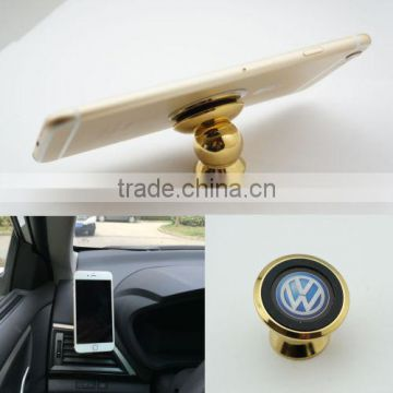 luxurious golden flexible car phone holder .html with Ball Sticky Magnetic Stand for car china stock