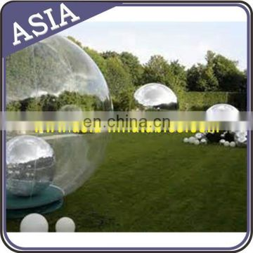 Silver Mirror Ball Inflatable Advertising Mirror Ball For Event