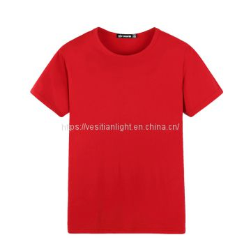 OEM manufacturer women white color plain t-shirts election campaign t-shirt with your printing logo and design
