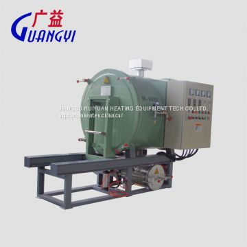 vacuum cleaning furnace for clean polymer from spinneret plate