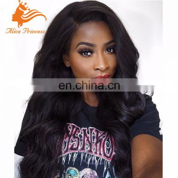 150density Natural Wave Full Lace Peruvian Hair Wigs Virgin Remy Hair Lace Front Wig