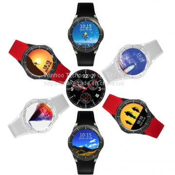 Shenzhen Dm368 Smartwatch Support SIM Card with Pedometer and Heart Rate Monitor Smart Fitness Watch