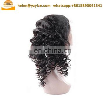 Ponytail afro braided bun hairpiece Synthetic 613 full lace wig human hair weft