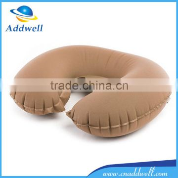 Outdoor folding inflatable travel U shape neck support pillow