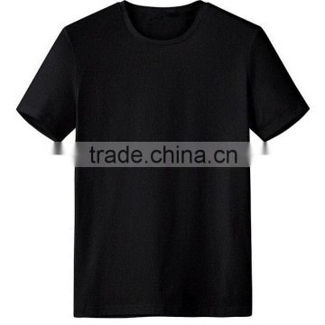 2016 Wholesale pure merino wool natural dry warm breathable short sleeves Black t shirts