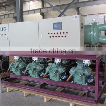 Bitzer low temperature water cooled screw condensing unit (widely used in cryogenic