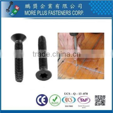 Taiwan 6-Lobe Flat Head Black Phosphate and Oil Finish Type F Point Thread Cutting Floorboard Screw