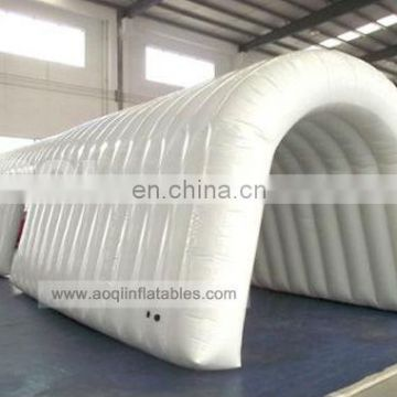 AOQI best quality white inflatable tunnel tent/arch tunnel for sale