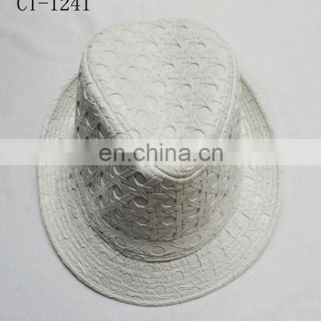 2015 hot sale leather top hat
