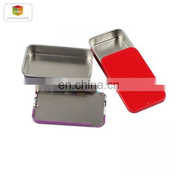 2017 New Style Customized Non-toxic Printed Rectangular Metal Tin Box With Sliding Lid
