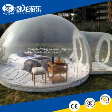 Outdoor Clear Camping Tent Advertising Inflatables/Inflatable Transparent Bubble Tent For Sale