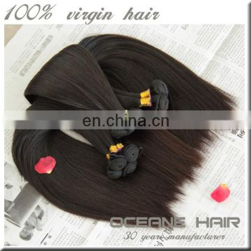 Silky and smooth high quality full cuticle double drawn new arrival most fashionablenatural brazilian 100% virgin human hair