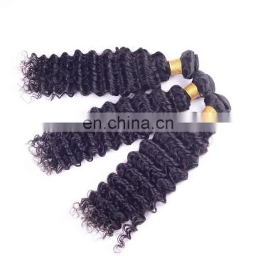 Wholesale natural human hair extension 100% deep wave brazilian hair