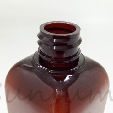 100ml Amber Color Cosmetic PET Plastic Dropper Lotion Bottle