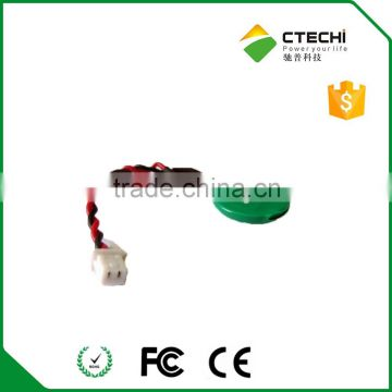 3V ml1220 battery with cable with connector coms battery