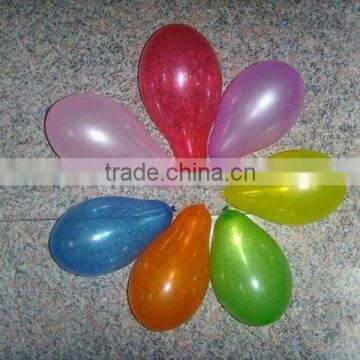 Fashion in China!Meet EN71!Nitrosamines detection! natural colorful 5inch latex assorted water balloons for game