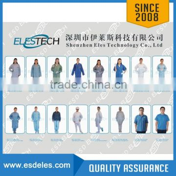 Antistatic ESD Clean room polyester clothing overcoat smock