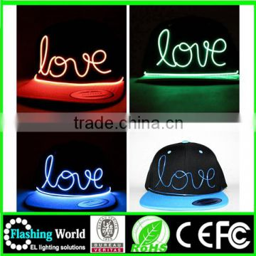 elegant and graceful elegant and graceful led cap,EL Cap,Music cap