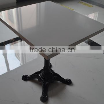 black artificial stone dining table and chairs,Acrylic soid surface restuarant dining table,made stone coffe table