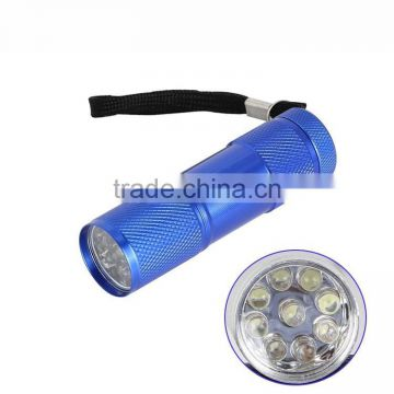 3AAA Battery mini 9 LED led flashlight cheap flashlight