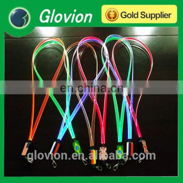 New Design LED flashing colorful TPU lanyards for party