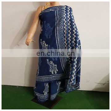 Indian Design Wholesale Hand Block Printed Saree