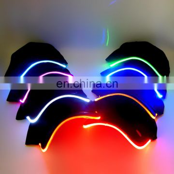 Promotinal Logo Printed Sports Led Baseball Cap/Led Flashing Baseball Cap/Led Light Baseball Cap For Party