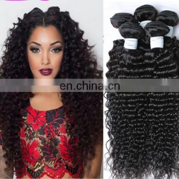 Deep Curl Best Selling High Quality Real Mink Brazilian Hair virgin hair bundles with lace closure