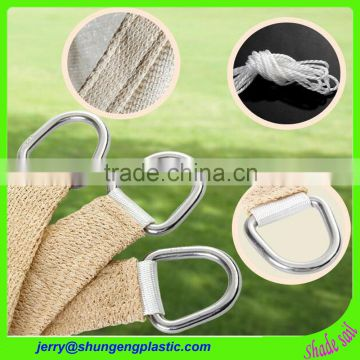 3m x 3m x3m HDPE new material beige color sun shade sails netting cover for garden and outdoor patio cover usage