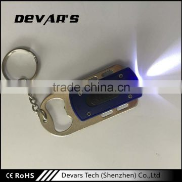 Wholesale high quality promotional custom led 3d keychain with light