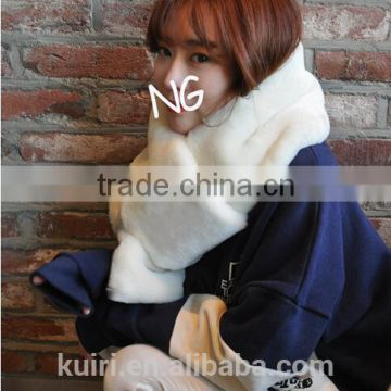 2016 New Fashion Bufandas Winter Women Scarf Adult Faux Fur Solid Color Thick Keep Warm Ring Imitation Collar Female Scarves