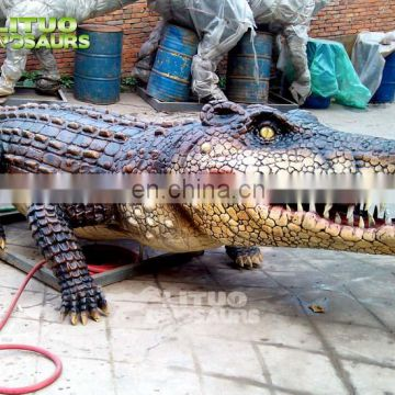 Mini Golf Decoration Artificial Crocodile Animatronic Animal