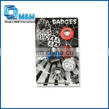Hot Selling Bad Girl Alice Tin Badge