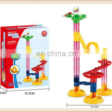 105PCS building block Funny educational Rolling Swirl Marble Run toy