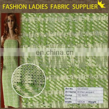 2014 knitted jacquard fabric,knit fabric for curtain,wholesale cotton/poly knit fabric