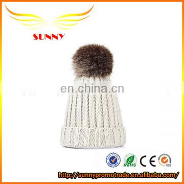 Custom pom pom beanie hat for winter promotion gift