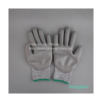 Cut Resistant PU Palm Gloves,Chinese  Professional Factory