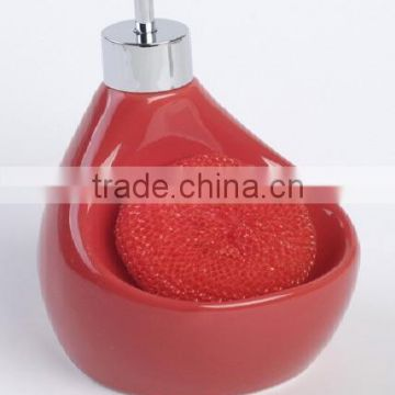 2016 New Unique ceramic liquidsoap dispenser with sponge