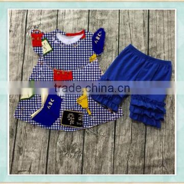 wholesale baby smocked flutter dresses match ruffle shorts remake outfits back to school gilrs boutique clothes