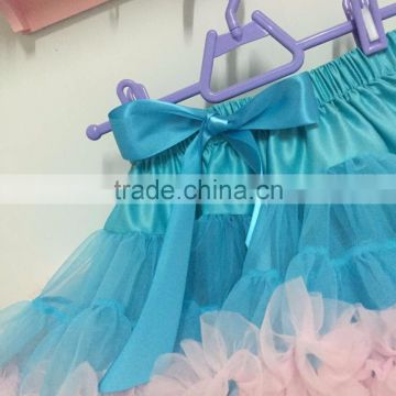 2016 new blue skirts children tutus kids birthday gift wedding skirts