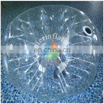 2017 new and popular zorb ball/ wholesale transparent blue inflatable zorb ball pengpengball