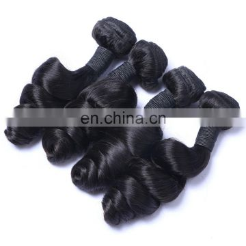 Grade 5a virgin brazilian/peruvian/malaysian hair loose wave natural human hair weaving