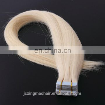Top Quality Double Drawn Blonde Tape Hair Extensions Russian