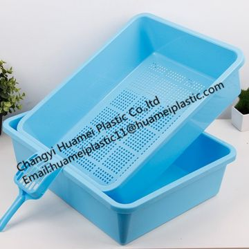 China factory colorful plastic cat litter boxes with scoop