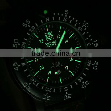 New Open Leather Watches Men Military Watch Army Watch