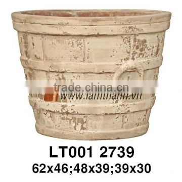 Vietnam Curved Modern Antique Terracotta Planter