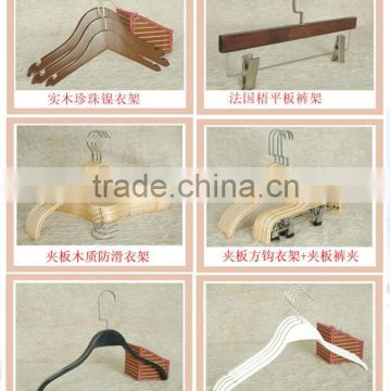 wholesale custom wooden coat hanger concise style wooden shirts hanger wooden tie and belt hanger