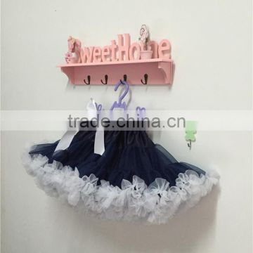 chirstmas navy skirts, holiday party ,dance ballet short puffy tutu ,girls white skirts,toddler navy skirts