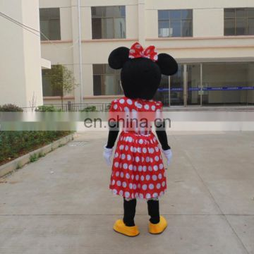 beatuiful mini mouse mascot costume for adults