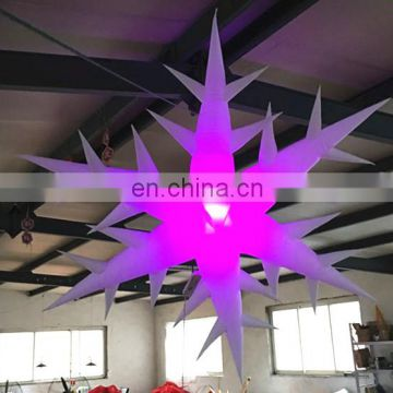 led lighting inflatable snowflake for Christmas decoration
